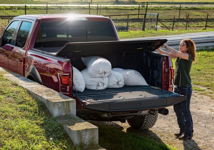 Rugged Cover Premium Hard Folding Truck Bed Cover Rugged Liner