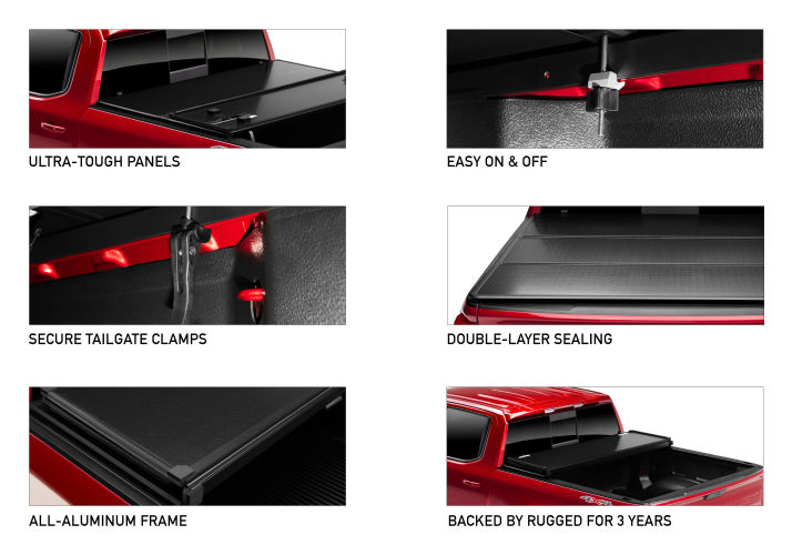 Rugged Cover E Series Hard Folding Truck Bed Cover Rugged Liner Rugged