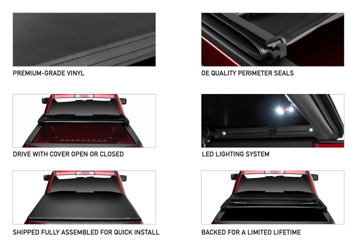 Rugged Cover Premium Soft Folding Truck Bed Cover Rugged Liner Rugged